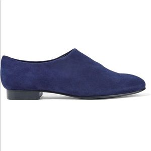 Opening Ceremony Charly Blue Suede Brogue Flats